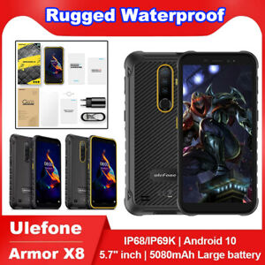 Ulefone Armor X8 NFC 4GB 64GB 5080mAh Smartphone Android 10 5.7 inch Cell Phone