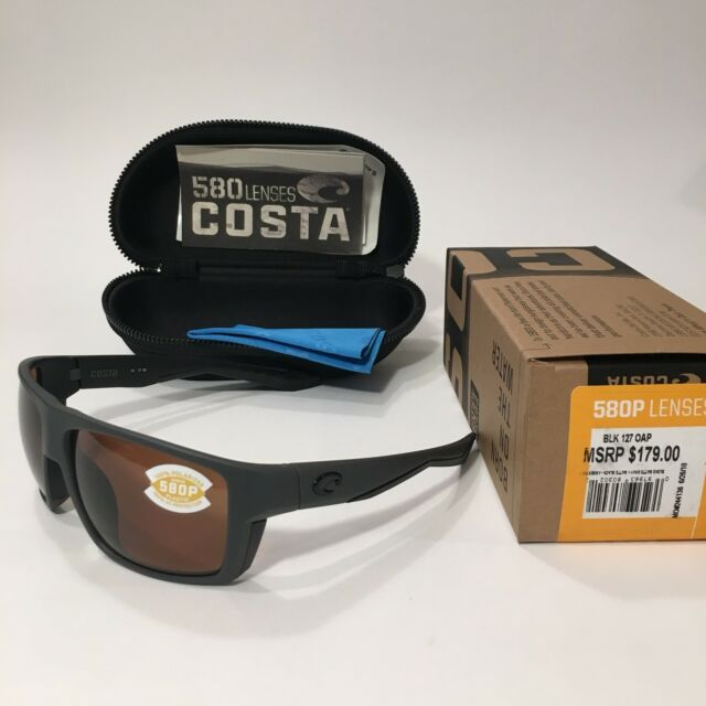 Costa Del Mar Bloke 580p Polarized Sunglasses MSRP $179.00