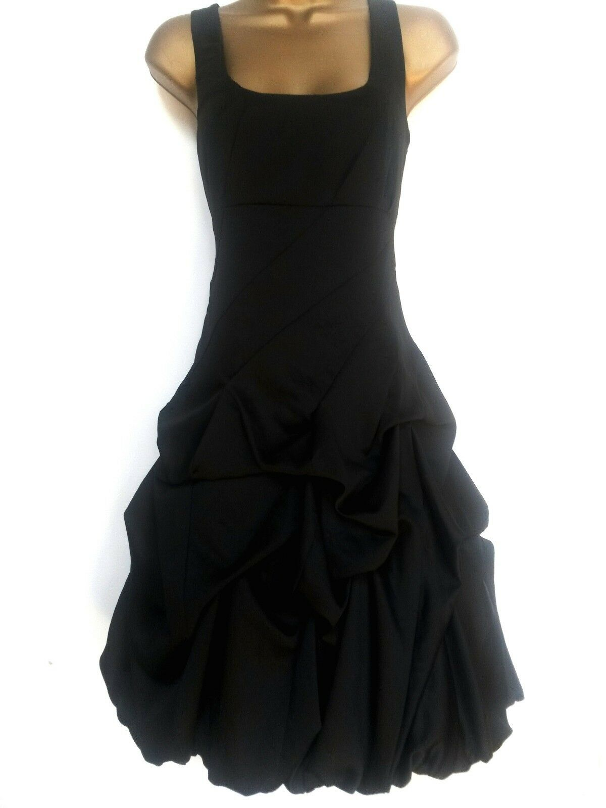 MONSOON ✩ SPLENDIDA Nero Carmel autostop Ruffle Cocktail Party Dress ✩ NUOVO