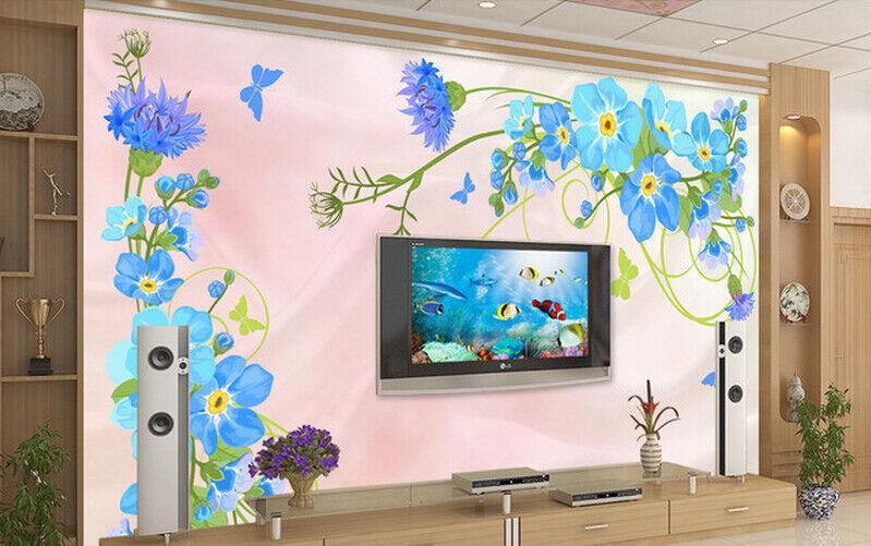 3D Squid Bule 665 Wallpaper Murals Wall Print Wallpaper Mural AJ WALL AU Kyra