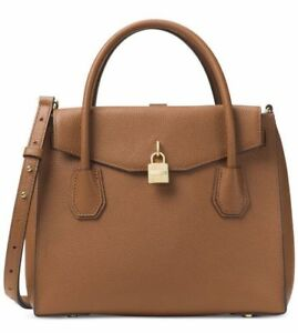 fd0f60d86d Michael Kors Studio Mercer Large Leather All in One Bag Luggage Brown