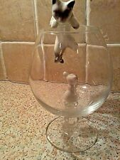 """""""""""L@@K"""""""" CAT & MOUSE BRANDY GLASS SET COMES IN BOX WITH # FREE P& P#"""