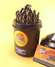Drill Hog® 29 Pc Drill Bit Set Drills Index HI-Molybdenum M7 Lifetime Warranty