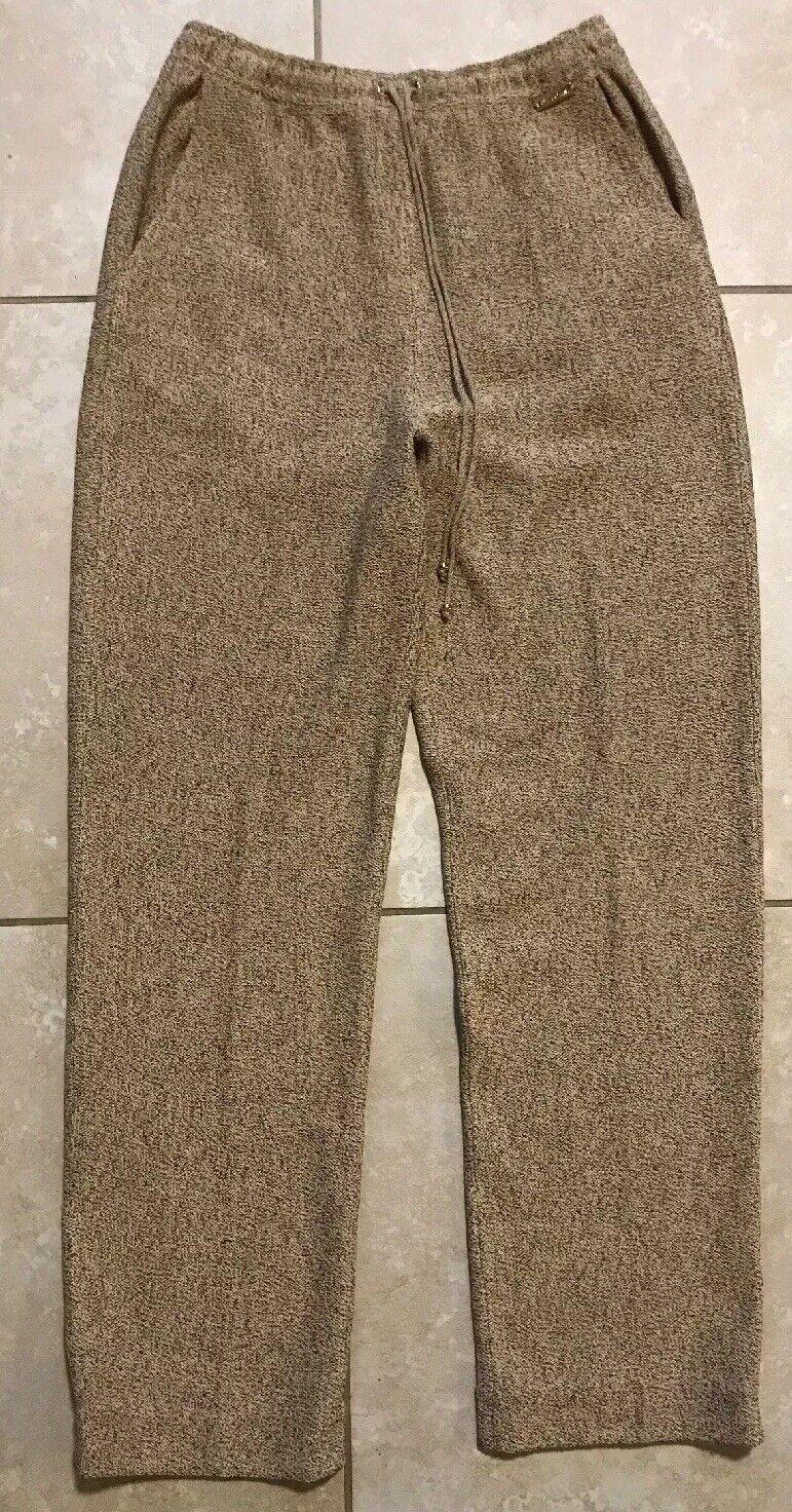 St. John Sport Wool Blend Tan Pant Size Small Tapered Straight Leg