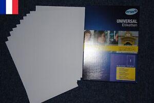 10-Feuilles-Autocollante-Papier-Etiquette-A4-21-x-29-7-cm-210x297-mm-Feuille