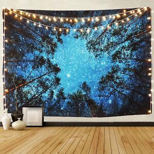 Nos Cielo Azul Mágico y de bosque de Tapiz Colgante De Pared Decoración Hogar Arte Tapiz