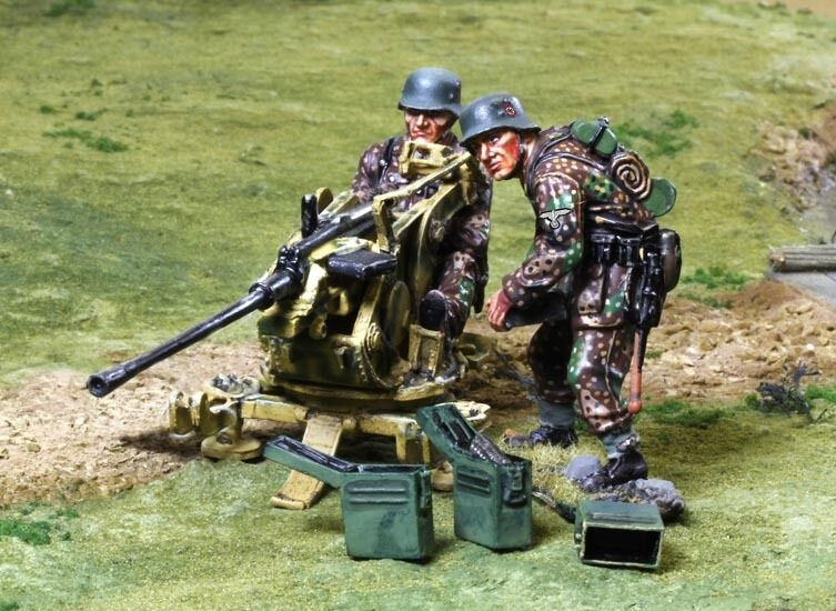 COLLECTORS SHOWCASE WW2 GERMAN NORMANDY CS00808 WAFFEN FLAK 41 TEAM MIB