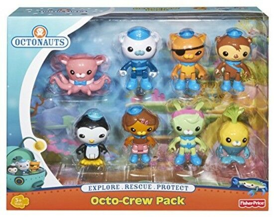 Kids Octonauts Play Set 8 Figure Toys Toddler Pretend Boy Girl 2 3 Inch New