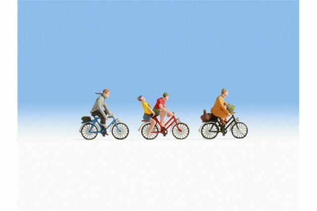 Noch 15898-3 x Pre-Painted Cyclists Figures 1//87th =H0//00 Gauge Tracked48 Post