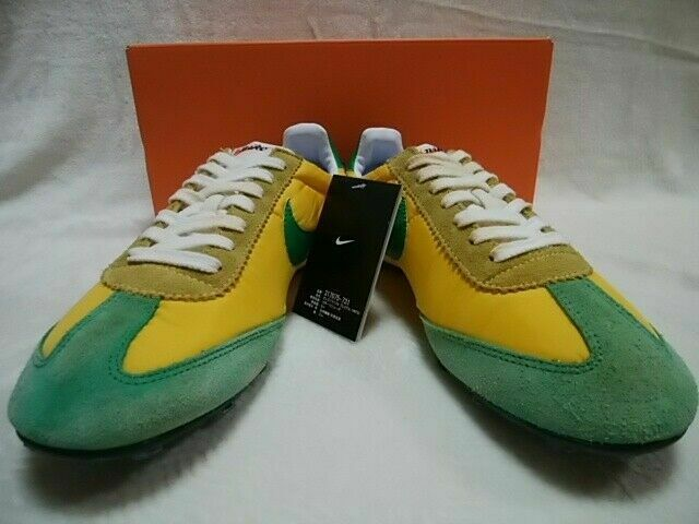 NIKE OREGON WAFFLE VNTG Men's Sneakers shoes Green Yellow Size US 9.5