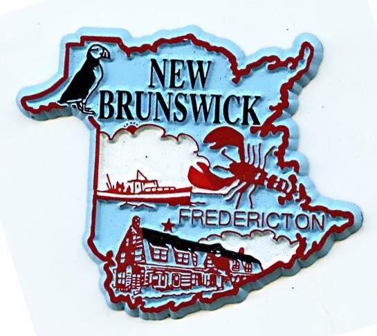 New Brunswick Fredericton 4 Color Canadian Province Fridge Magnet
