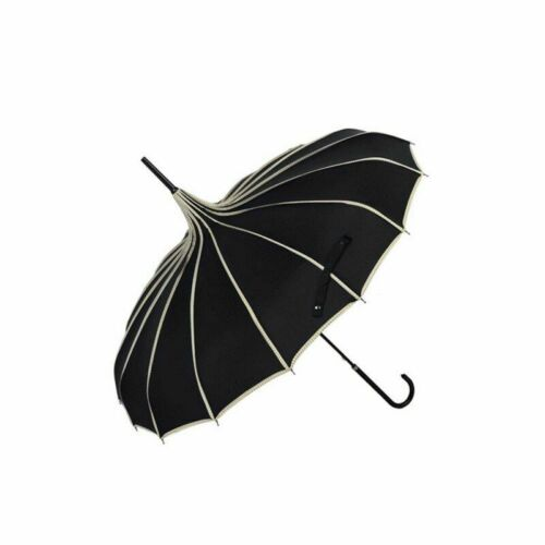 Women Long Handle Umbrellas Gothic Classical Parasol Tower Pagoda Accessories