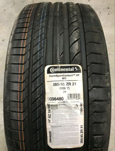 285 45 21 Continental Conti Sport Contact 5P 109Y P285//45ZR21 New Tire OldStock