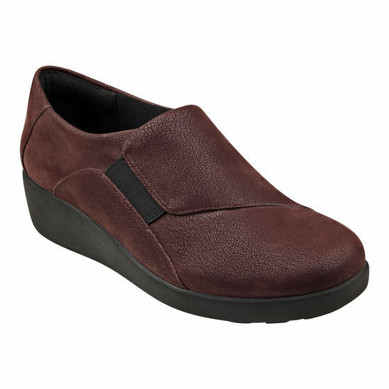 Easy Spirit Kelt walking shoe wedge loafer wine Breathable Breathable Breathable GEL sz 11 Md NEW 53d2ae