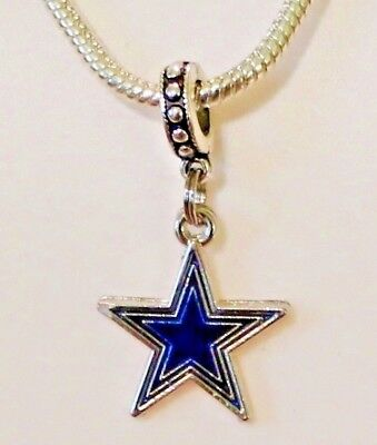 Nfl Dallas Cowboys Star Dangle Pendant Charm For Charm Bracelet Or Necklace's, Jewelry & Watches Matching In Colour Fashion Jewelry