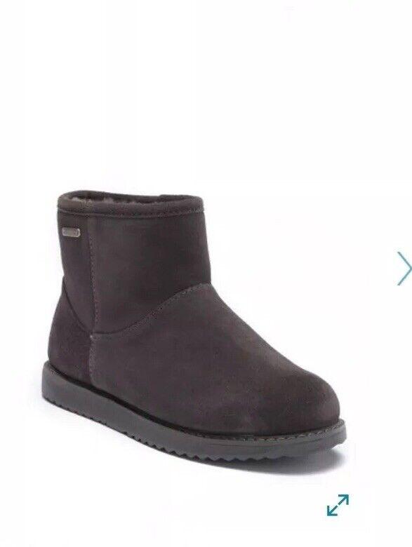 New EMU AUSTRALIA Women Sheepskin Black Boots Boots Boots Bootie shoes Size 5 95c834