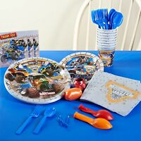 Monster Jam 3d - Birthday Party Supply Super Kit For 8 W/ Balloons,candle & More
