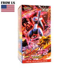 "Pokemon Cards Game XY Break Box ""Red Flash"" 30 Booster Packs Korean Version"