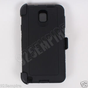 new york 49054 80c37 Details about for Samsung Galaxy Note 3 Black Case Cover (Belt Clip Fits  OtterBox Defender)