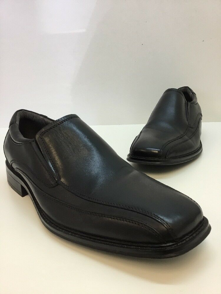 Mens Dockers BLACK leather Size Slip-on Loafers Casual Shoes Size leather 11.5 08f439