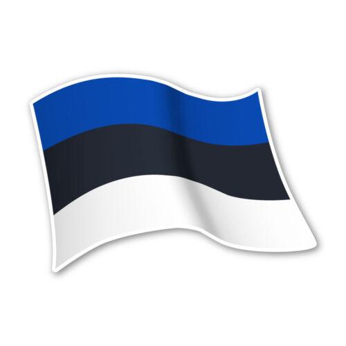 Estland Flagge Estonia Autoaufkleber Sticker Fahne Aufkleber DRU 0062