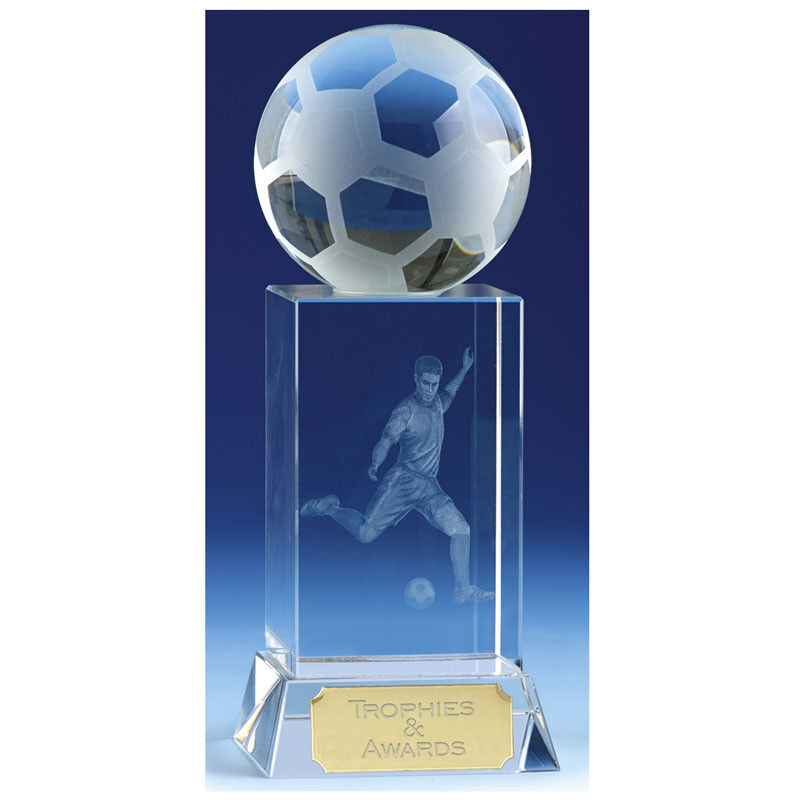 15 cm Mercury Football Crystal Trophy FREE Engraving up to 30 Letters