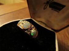 FAVOLOSO Vittoriano francese 18CT Oro, Opal & ROSE Taglio Diamante Anello