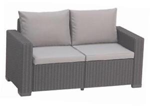 Super Allibert Lounge Sofa Balkon California Graphitpanama Cool Rattan QM72
