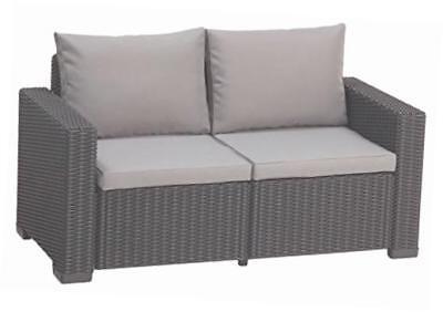 Allibert Lounge Sofa Balkon California Graphitpanama Cool Rattan Gartenmöbelset Ebay