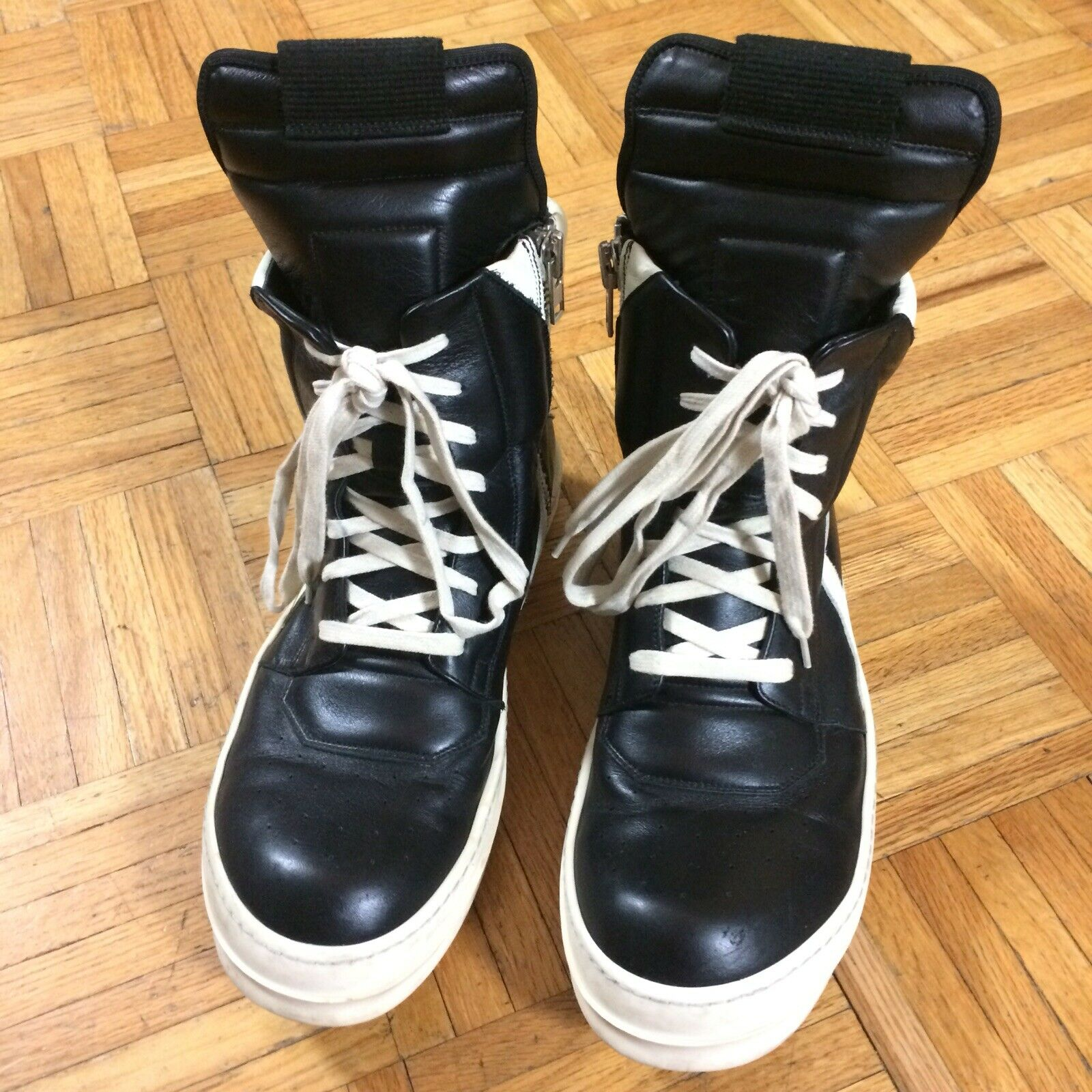 Rick Owens sz 9 Leather Sneakers High Tops
