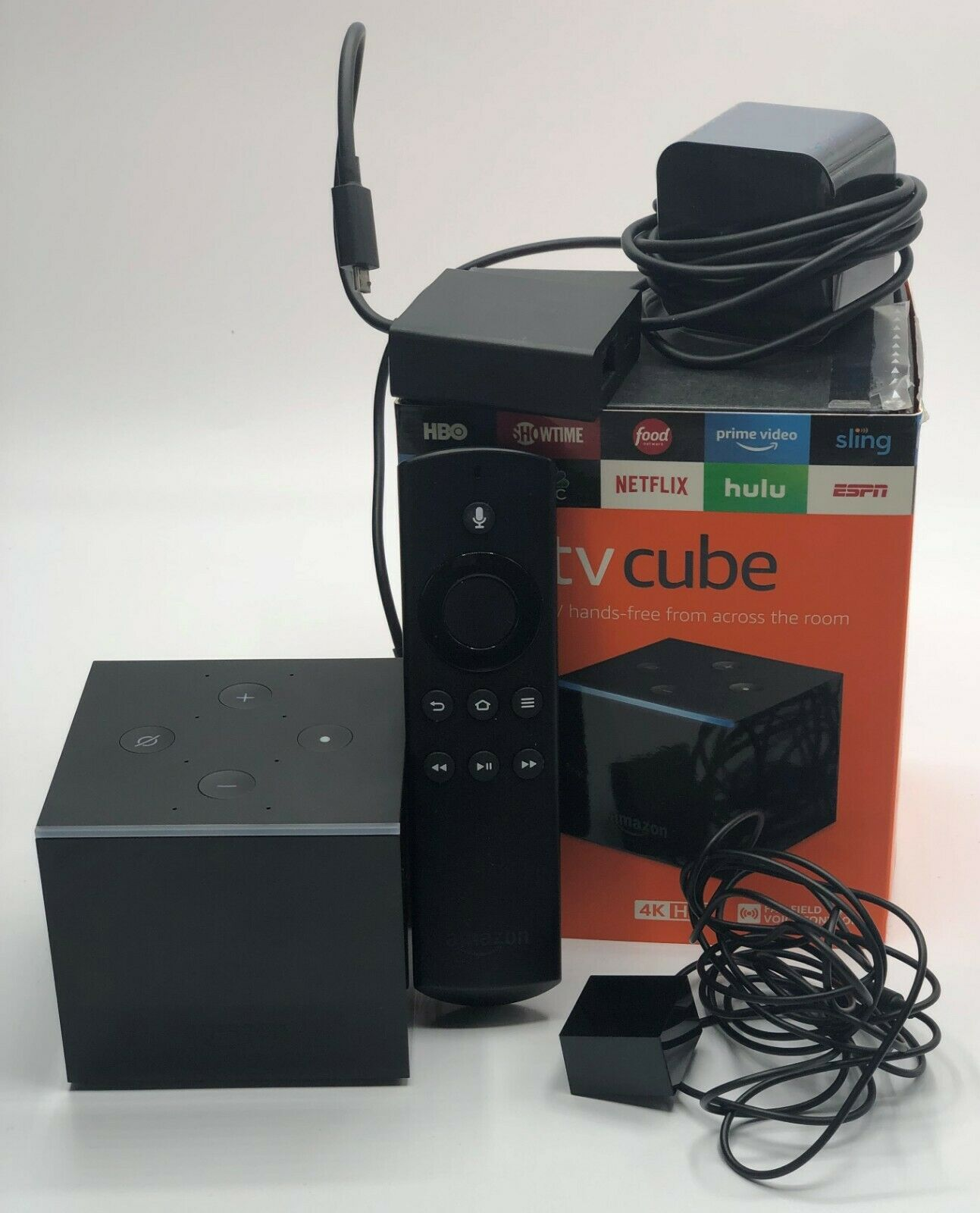 Fire TV Cube Hands-Free with Alexa and 4K Ultra HD Streaming Media Player alexa and cube fire media player streaming ultra with