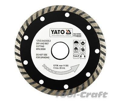Yato Diamond blades disc 115-230mm turbo type for stone concrete ceramic bricks