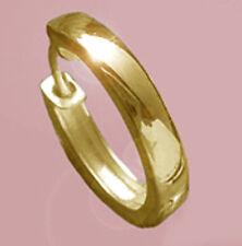 ECHT GOLD *** Große Herren schlichte Single- Creole Ohrring glänzend, 17 mm