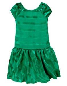 GYMBOREE-FANCY-DALMATIANS-GREEN-RIBBON-N-GEM-DRESSY-DRESS-3-4-5-6-7-8-9-12-NWT