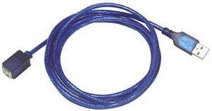Usb-A-Plug-A-Usb-B-Socket-5m-Plomo-Caja-De-100