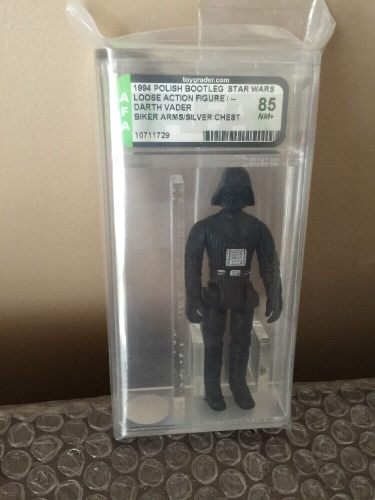Vintage 1994 Polish Stiefelleg Star Wars Darth Vader AFA 85 NM+(Near Mint+) Kenner