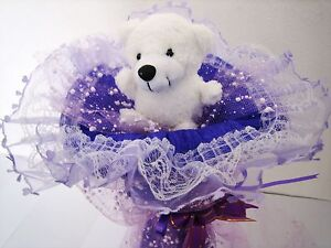 Birthday-Valentine-039-s-Father-039-s-Day-Wedding-Give-Away-Gift-Plush-Bear-Bouquet-Love