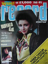 RECORD MIRROR 18/2/84 - YIP YIP COYOTE - ULTRAVOX - MARILLION