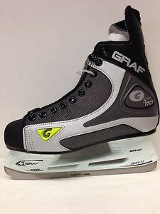 GRAF-1001-101-Eishockey-Schlittschuhe-Gr-46-schwarz