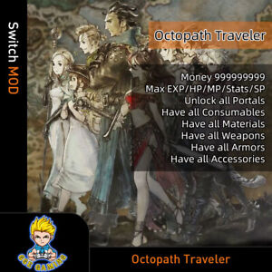 Octopath-Traveler-Switch-Mod-Max-Money-EXP-HP-MP-Stats-SP-ItemsWeapons-Armor