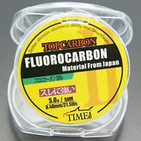 Fluorocarbon Fishing Line 21.5lb/50m Color Clear Material From Japan