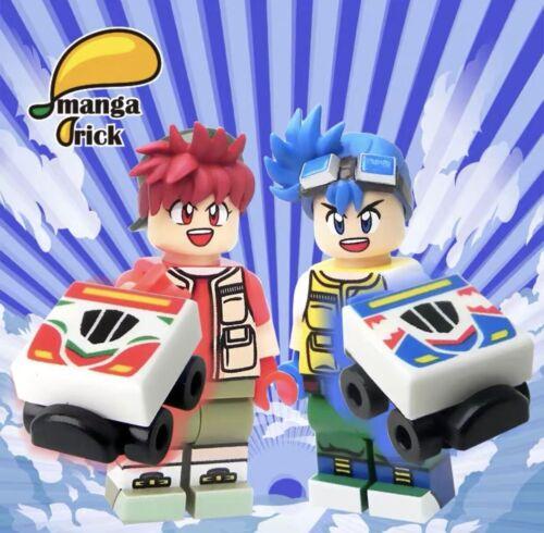 MANGA BRICK Custom Bakuso Kyodai Let/'s /& Go Lego Minifigure Set Of 2