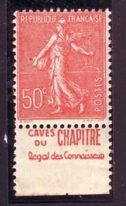 TIMBRE-PUB-CAVES-DU-CHAPITRE-50-c-semeuse-N-199-carnet-TTB