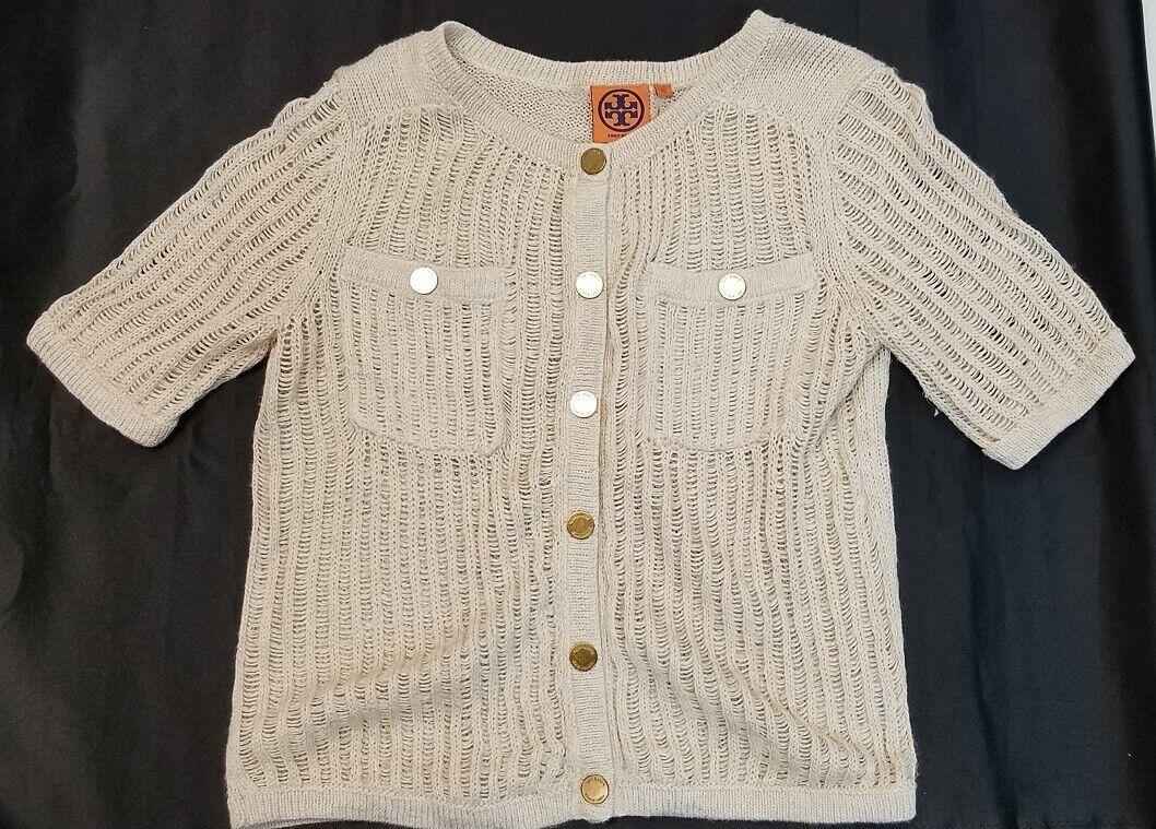 Tory Burch Kurz Sleeve Taste down Knit Sweater Sz XS