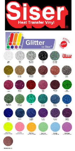 "SISER Glitter Heat Transfer Vinyl Tshirt //Textile HTV 20/"" x 5 ft by precision62"