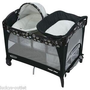 graco pack n play playard change n carry changing pad bassinet milan no matress ebay. Black Bedroom Furniture Sets. Home Design Ideas