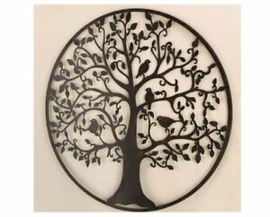Details About Metal Tree Of Life Wall Decor Plaque Birds Large Iron Hanging Nature Art Leaves