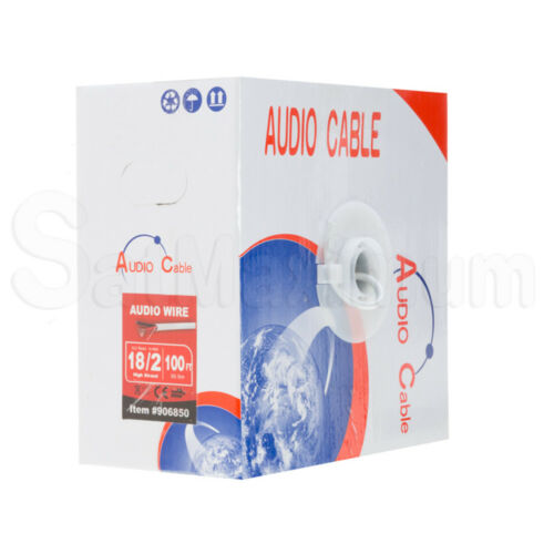 Audio Speaker Cable In Wall 12//2 14//2 16//2 18//2 14//4 16//4 18//4 AWG CL2 BULK LOT