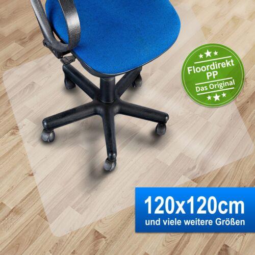 Bodenschutzmatte 120x120cm für Hartböden aus PolypropylenFarbe milchig