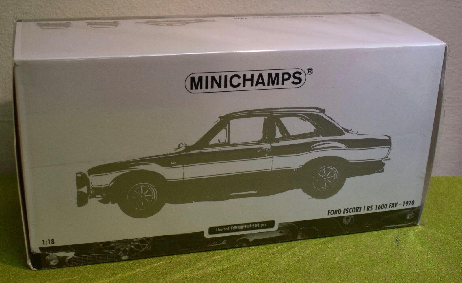 Die Cast Minichamps Escala 1 18 FORD ESCORT I RS 1600 FAV 1970